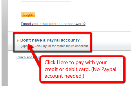 card payment with paypal